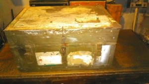 An old military chest.