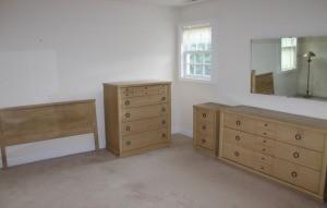 A set of bedroom furniture.