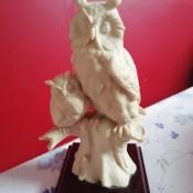An owl sculpture.