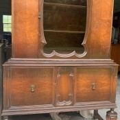 A tall wooden cabinet.