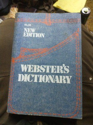 The front cover of a dictionary.