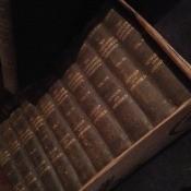 A collection of encyclopedias.