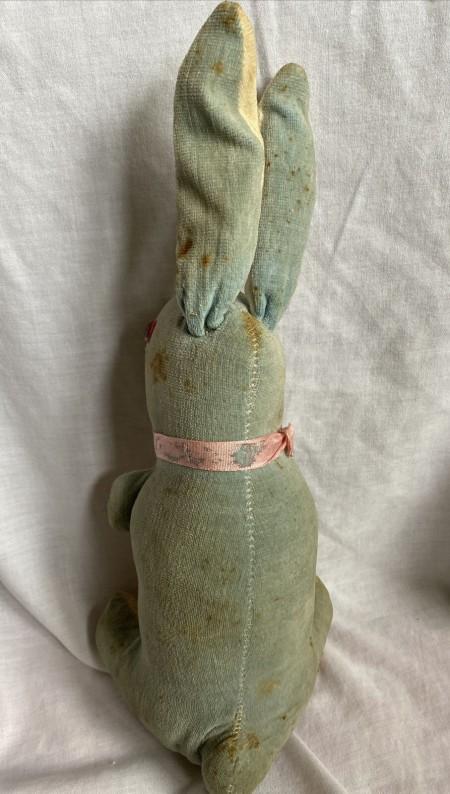 The back of an old velveteen rabbit.
