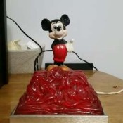 An old Mickey Mouse clock.