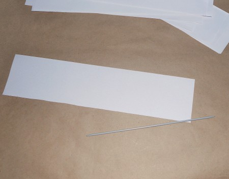 A strip cut out of paper.