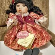 A decorative porcelain doll.