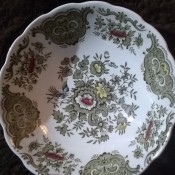 A decorative china plate.