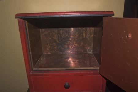 The open door to the humidor.