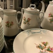 A collection of china dinnerware.