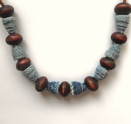 A completed bead necklace.