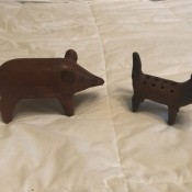 Two animal figurines