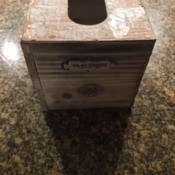 The finished Kleenex box.