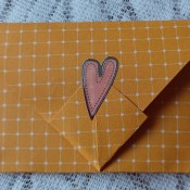 The finished letter with a sticker closure.