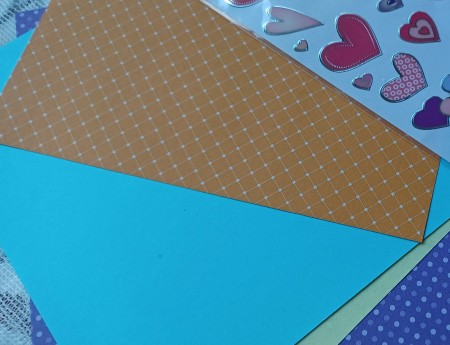 Origami paper and stickers for the folded envelope.
