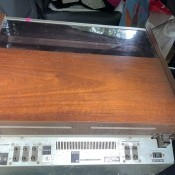A vintage stereo system.