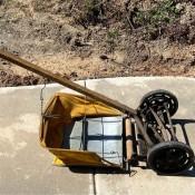 An old reel mower.