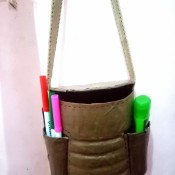 The completed travel bag.