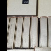 A collection of Funk and Wagnalls encyclopedias.