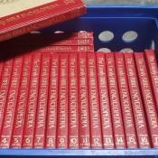 A collection of the Family Bible encyclopedias.
