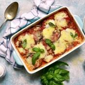 An Italian eggplant casserole.