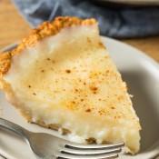 A slice of sugar pie.