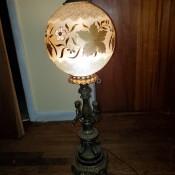 A decorative globe lamp.