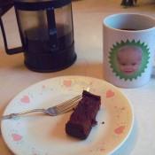 A slice of Almond Flour Chocolate Beet Cake