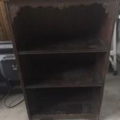 A wooden bookshelf.