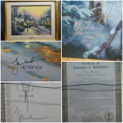 A Thomas Kinkade print with signature and certificate of authenticity.