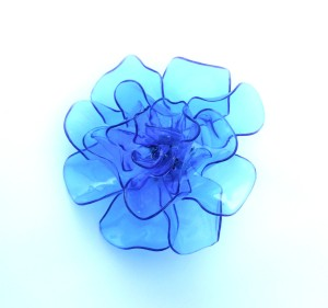 The completed plastic flower.