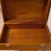 An open wooden box.