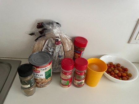 Ingredients for Beans in Pita
