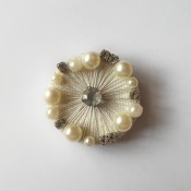 The completed brooch.