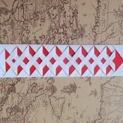 The finished decorative bookmark.