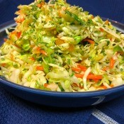 The completed cilantro lime slaw.
