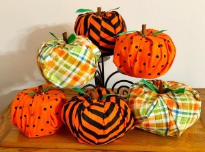 A collection of Toilet Paper Pumpkins