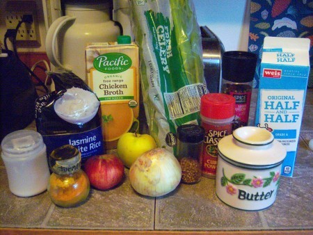 Ingredients for Curried Apple Bisque