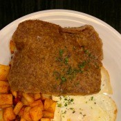 A plate containing scrapple.