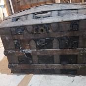 An antique trunk.
