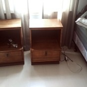 Two small wooden nightstands.