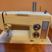 A Kenmore sewing machine.