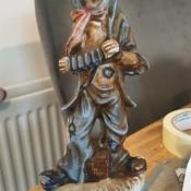 A figurine of a clown.