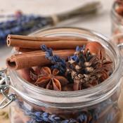 A jar of homemade potpourri.