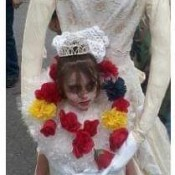a Headless Bride costume
