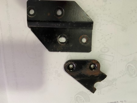The pieces of the lift arm.