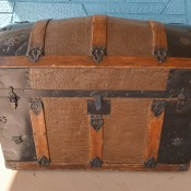 An old dome top trunk.