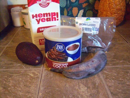 Ingredients for Healthy Chocolate Shake