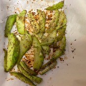 The roasted chayote squash.