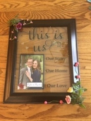 The completed wedding frame.