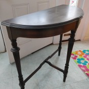 A wooden hall table.